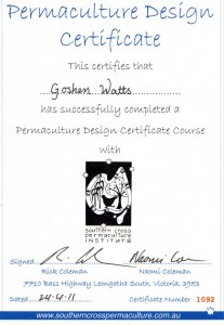PDC Certificate with Rick Coleman 2011