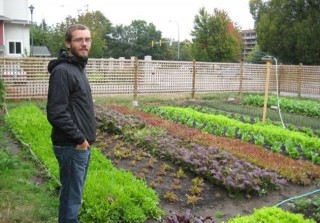Curtis Stone on one of his plots (Pic courtesy of Greencityacres).