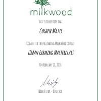 Urban Farming - Certificate